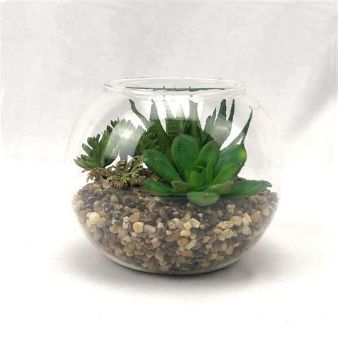 สวนโหลแก้ว สวนต้นไม้ปลอมตกแต่งด้วยหิน จัดในโหลแก้ว สำหรับ ...