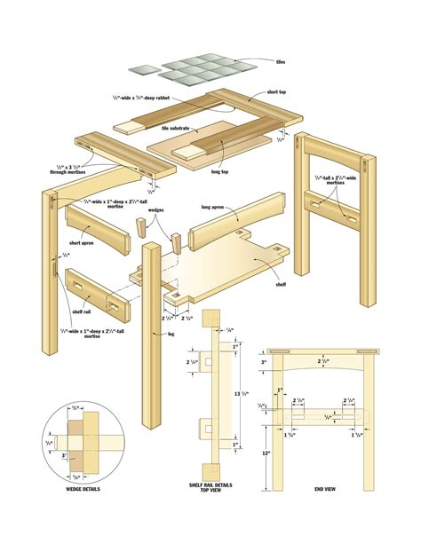 mission side table woodworking plans woodshop plans