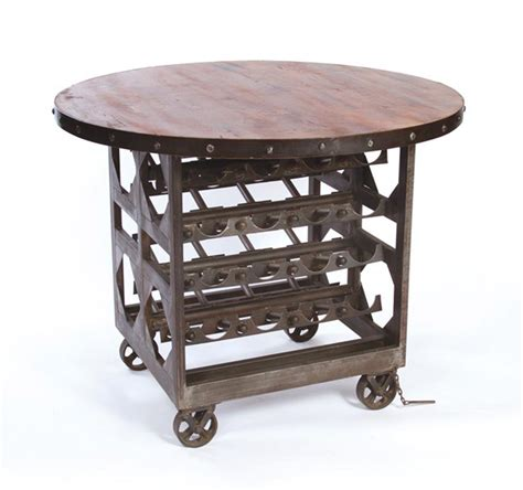 wine tables for industrial reclaimed wood wine cellar counter height table 1554