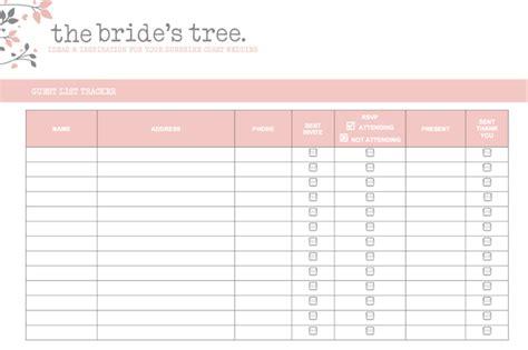 5 Free Wedding Invitation List Templates