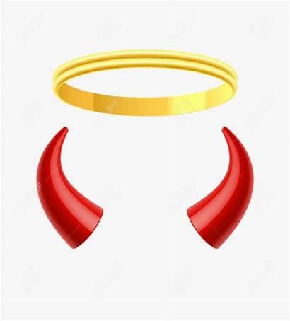 Horns Devil Transparent Angel Clipart Cartoon Sign