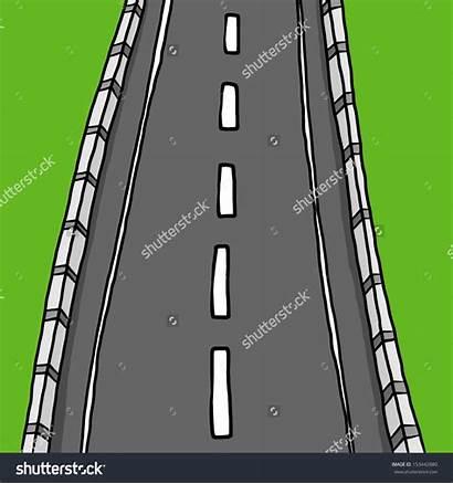 Street Empty Clipart Cartoon Road Background Illustration