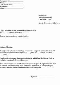 Responsabilite Civile Auto : mod le de lettre r siliation d une assurance responsabilit civile priv e ~ Gottalentnigeria.com Avis de Voitures
