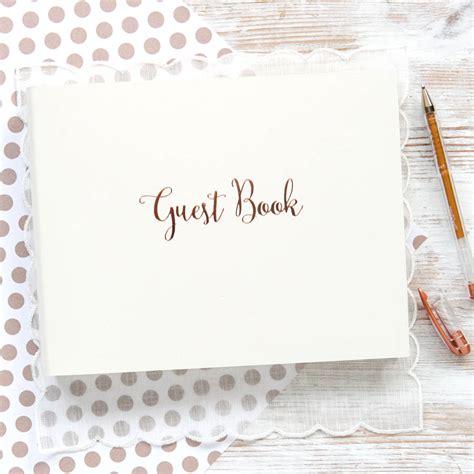 rose gold wedding guest book  begolden