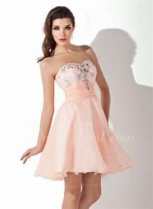 forme princesse bustier en coeur court mini organza robe With robe de cocktail combiné avec perle pandora rose