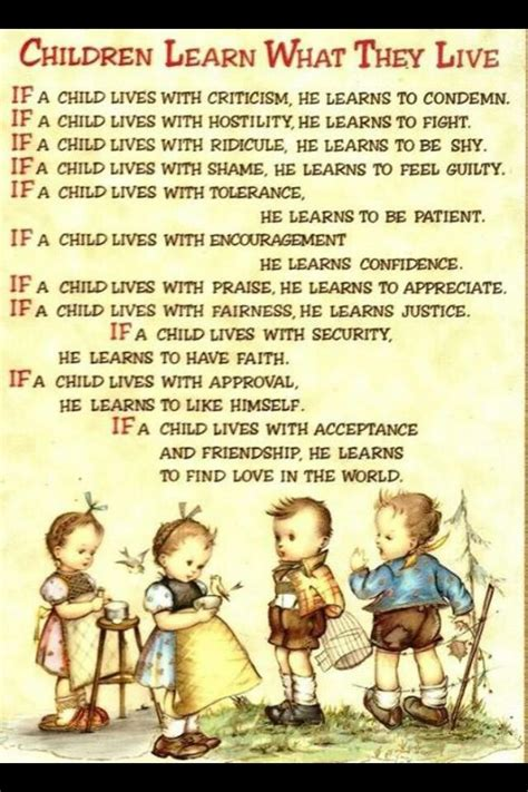 children live what they learn poem by dorothy nolte 772 | 07c795067f695354b9cda415c7bfb693