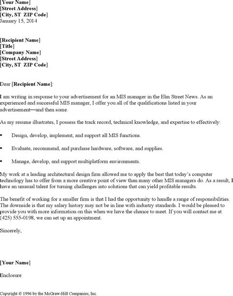 mis manager resume cover letter for free tidyform
