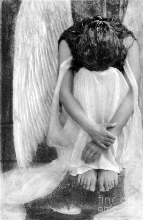 sad angel woman photograph by jill battaglia