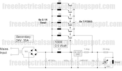 wiring diagram  car lm     power supply