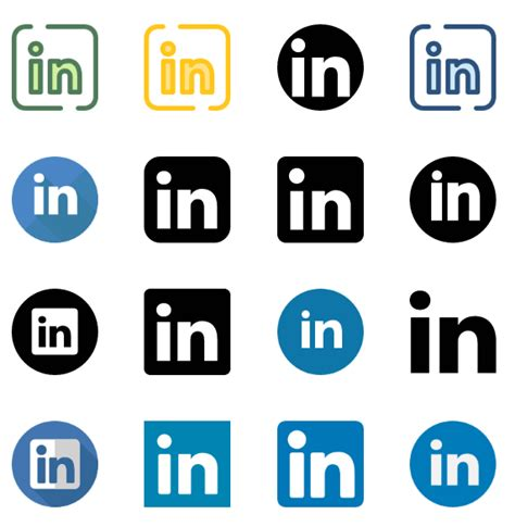 20 LinkedIn icons vector (.EPS + .SVG + .PNG) download