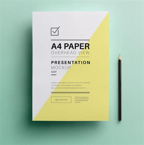 overhead paper mockup psd creativebooster