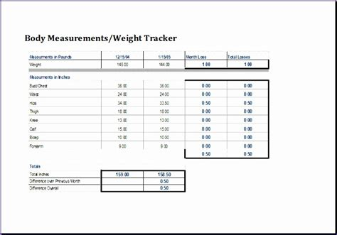 personal weight loss chart exceltemplates exceltemplates