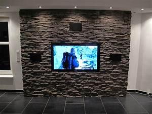 Wohnzimmer Wand Steine : bescheiden tv steinwand wohnzimmer hifi villaweb info forum mit selber bauen anleitung hinter ~ Sanjose-hotels-ca.com Haus und Dekorationen