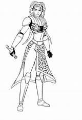 Secura Aayla Wars Star Jedi Deviantart General Lineart Clone Coloring Pages Josephb222 Knight Ahsoka Tano Twi Lek Twilek Fiction Science sketch template