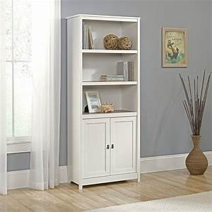Sauder, Cottage, Road, Library, Bookcase, With, Doors