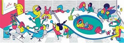 Community Service Illustration Malina Animation Omut
