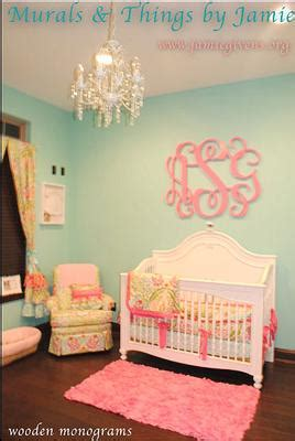 green  pink nursery ideas   touch  aqua   baby girl