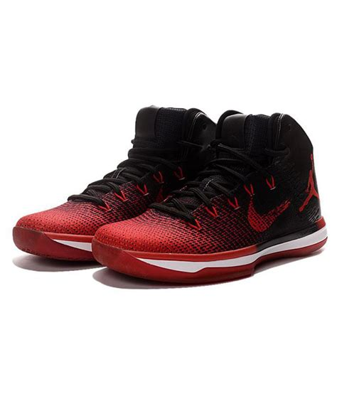 Nike Air Jordan Xxxi 31 Banned Red Black Basketball Shoes