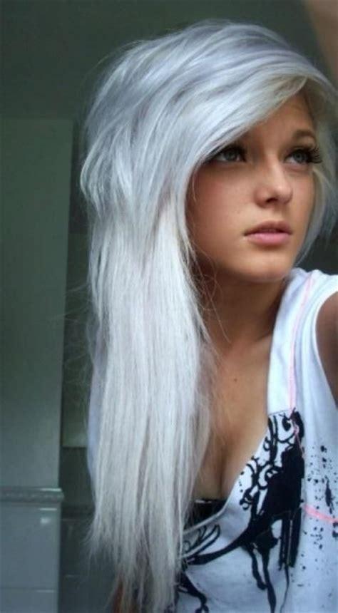 silver hair long silver hair hairstyles  beauty