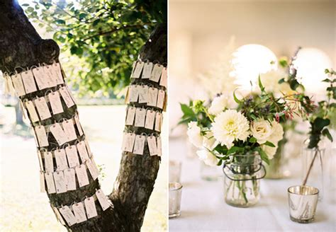 outdoor farm wedding escort cards  wed