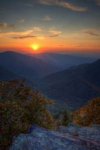 Smoky, Mountains, Sunset, Wallpapers