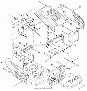Mtd 13ap698g731  2004  Parts Diagram For Hood Style 8