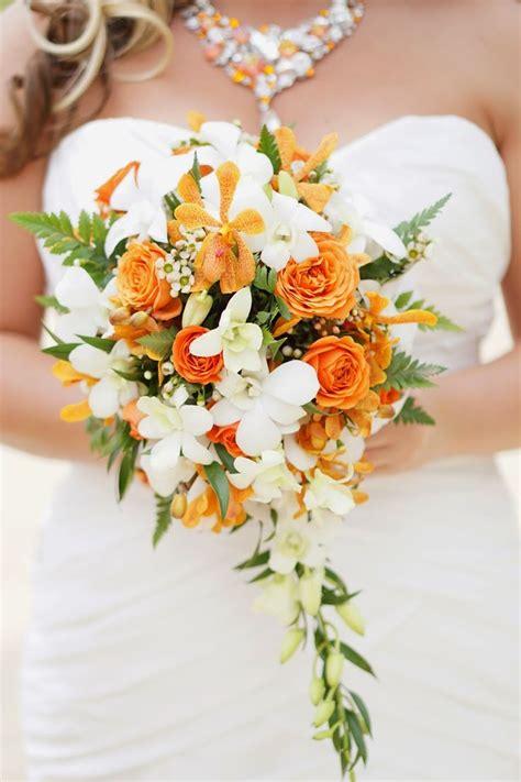 ideas  orange wedding flower arrangements