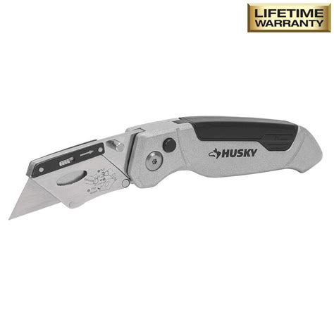 Utility Knives by Husky Pro Folding Utility Knife 99261 The Home Depot