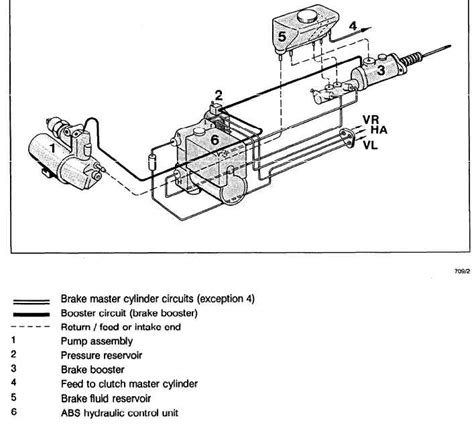 Wiring Diagram For Brake Booster by Diagram Of Teves System Non Integral Abs