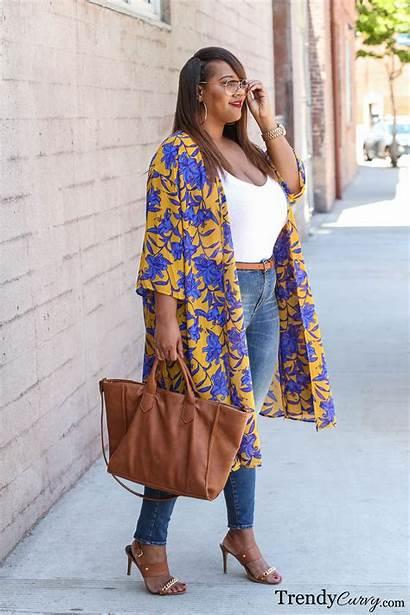 Curvy Trendy Plus Kimono Breezy Skirts Easy