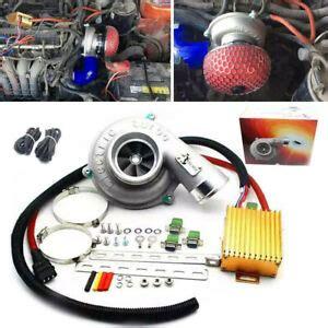 universal electric turbo supercharger kit thrust motorcycle air filter intake ebay
