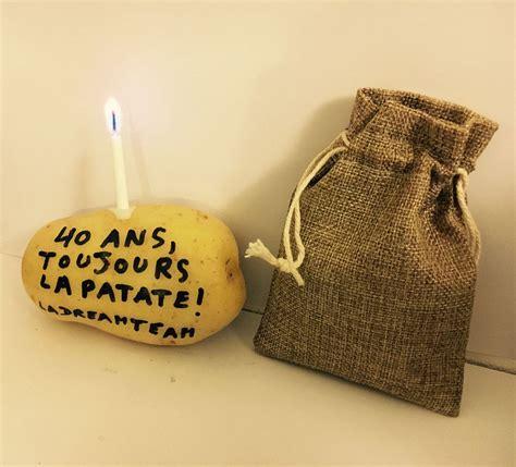 patate anonyme danniversaire  ans invitation