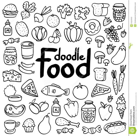 cuisine stock food doodle stock photo image 31221910