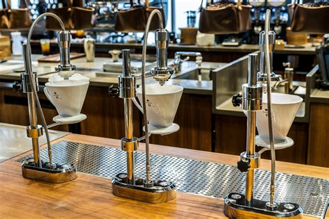 The clover is a very expensive machine and only widely available at starbucks but supposedly ritual coffee has a couple machines. KROMA - Starbucks Reserve Roastery and Tasting Room Creates Sensory Coffee Experience