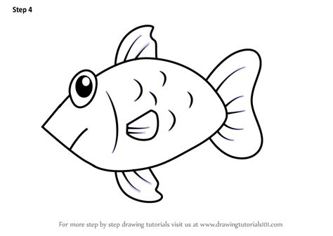 Learn How To Draw A Fish From Letter F (animals With