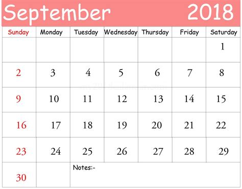 September 2017 Calendar Template September 2018 Calendar Template Calendar 2017 Printable