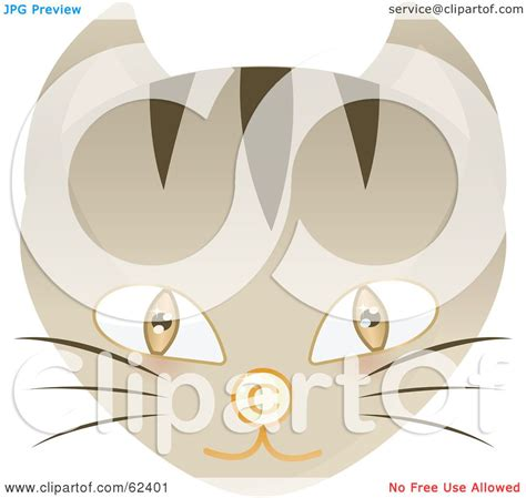 royalty  rf clipart illustration   brown eyed cat