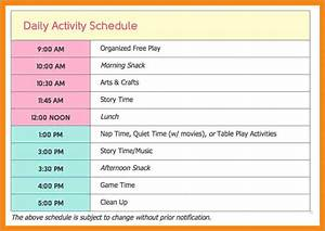 child care daily routine template fidelitypointorg With child care daily routine template