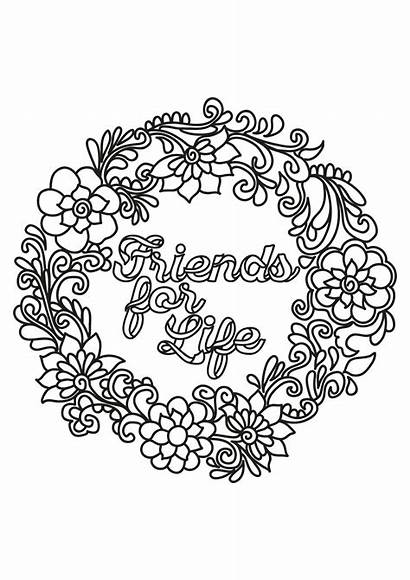 Coloring Pages Sayings Quote Friend Justcolor Via
