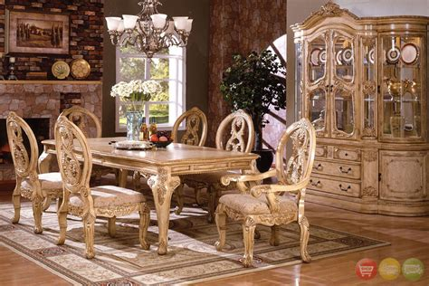 Tuscany Traditional Formal Dining Room Set Table 6 Chairs & China Antique White Antique Stores Fort Myers Radio Schematics Reproduction Glass Panes Who Buys Dishes Dealers Online Iron Wall Decor White Dining Room Table And Chairs Nyc