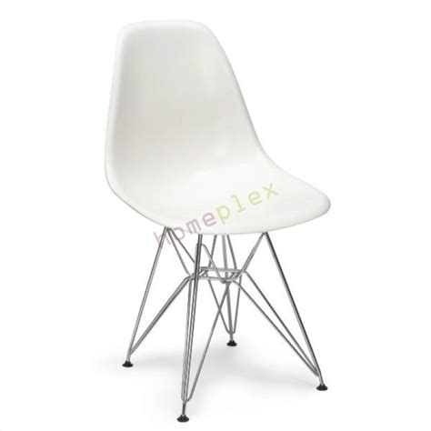 chaise eiffel top set of replica eames dsr eiffel dining chair in white
