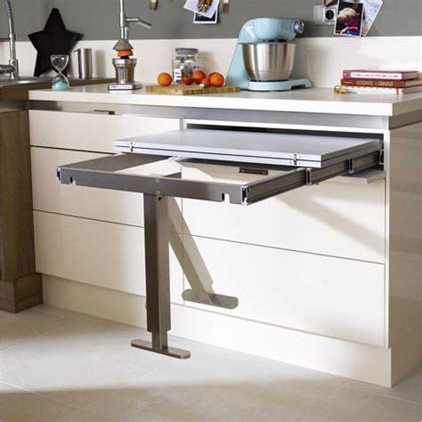 meuble bureau fermé avec tablette rabattable plan de travail rabattable cuisine table cuisine