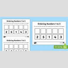 Ordering Numbers To 5 Worksheet  Worksheet  Place Value, Eyfs Place Value
