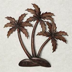 2018 latest palm tree metal art wall art ideas With kitchen cabinet trends 2018 combined with metal wall art tree