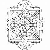 Shield Tribal Coloring sketch template