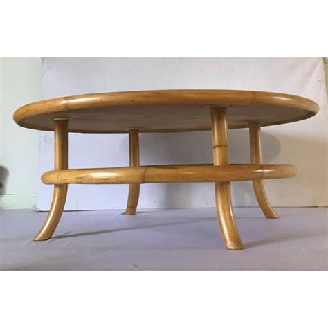 I made it out of maple. Vintage Mid Century Rattan Bamboo Bentwood Coffee Table ...