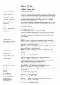 solutions architect cv sample cv writing career history With cv template for architects