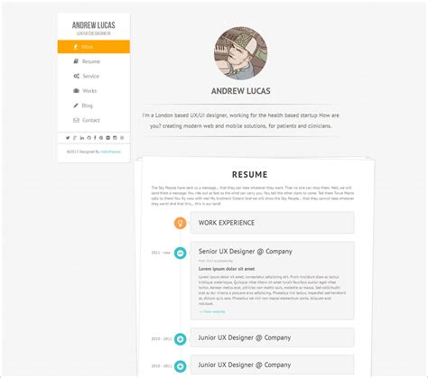 7 creative cv resume template for web graphic