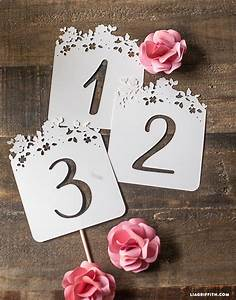 DIY Wedding Table Numbers - Lia Griffith