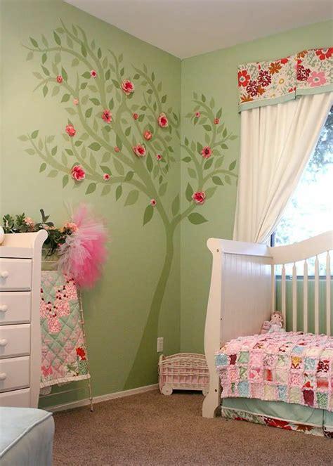 deco chambre bebe fille et vert